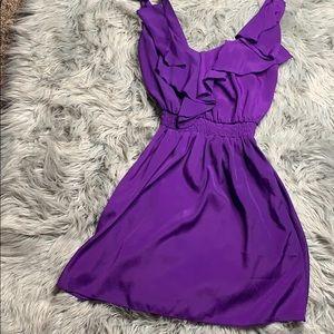 Above knee purple dress